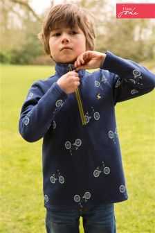 Little Joule Navy Bike Print Fleece