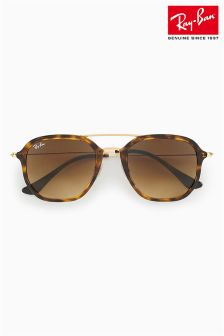 Ray-Ban® Tortoiseshell Hex Aviator Sunglasses