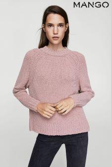 Mango Pink Sparkle Knitted Jumper