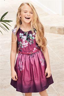 Purple Belted Prom Dress (3-12yrs)