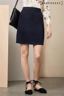 Warehouse Indigo Clean Denim Pelmet Skirt