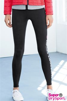 Superdry Black Core Gym Legging
