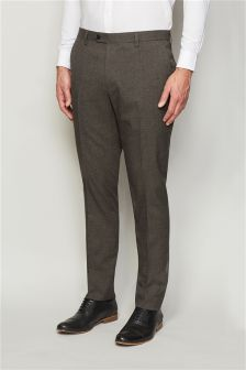Puppytooth Slim Fit Suit Trousers