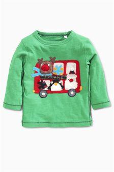 Christmas Bus T-Shirt (3mths-6yrs)