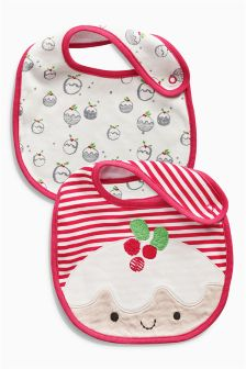 Christmas Pudding Bibs Two Pack