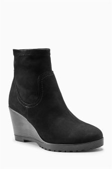 Sock Wedge Boots