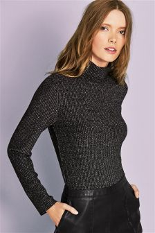 Rib Roll Neck Body