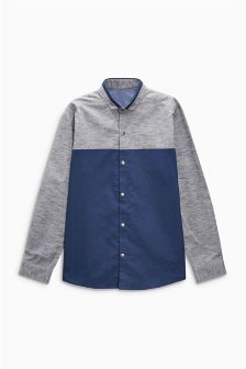 Long Sleeve Colourblock Shirt (3-16yrs)