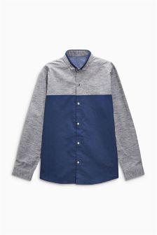 Long Sleeve Colourblock Shirt (3-16yrs)