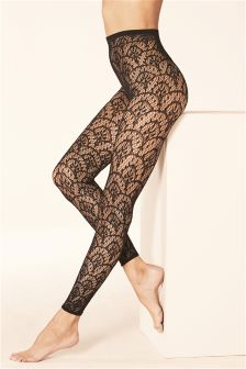 Deco Lace Footless Tights