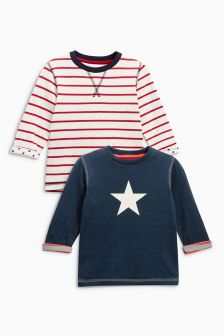 Double Cloth Tops Two Pack (3mths-6yrs)