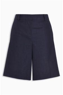 Textured Cotton Slub Shorts