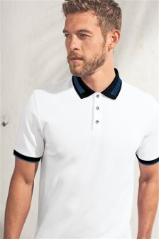 Textured Tipped Poloshirt