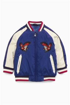 Embroidered Eagle Bomber (3mths-6yrs)