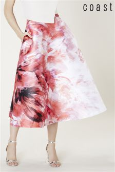 Coast Pink Rouge Print Skirt