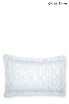 Secret Linen Store Teasels Blue Oxford Pillowcase