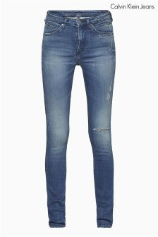 Calvin Klein Blue Deconstructed Sculpted Skinny Jean