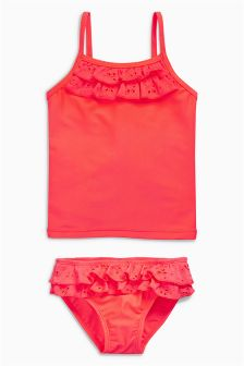 Broderie Frill Tankini (3mths-6yrs)