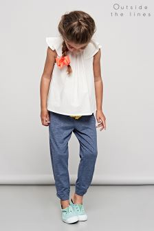 Outside The Line Twist Hem Indigo Jogger
