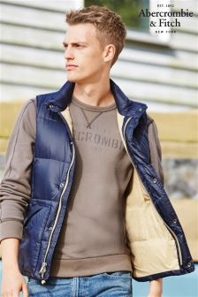 Abercrombie & Fitch Navy Gilet