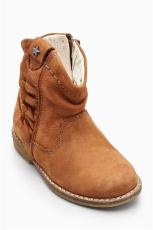 Western Ruffle Boots (Younger Girls)