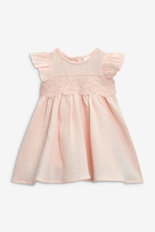 Lace Panel Occasion Dress (0mths-2yrs)