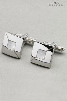 Signature Mother Of Pearl Cufflinks Set