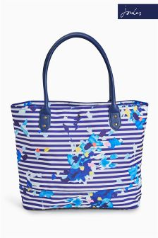 Joules Multi Flo Stripe Printed Coated Canvas Shopper