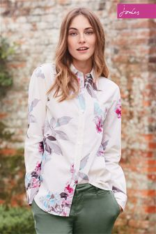 Joules Lucie Cream Bloom Print Shirt