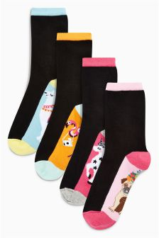Llama Ankle Socks Four Pack