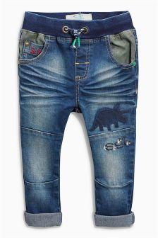 Jersey Dinosaur Jeans (3mths-6yrs)