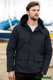Barbour® Navy Vapour Hooded Jacket