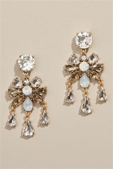 Jewelled Statement Drop Earrings
