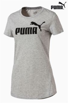 Puma® Grey Heather Essential Logo Tee
