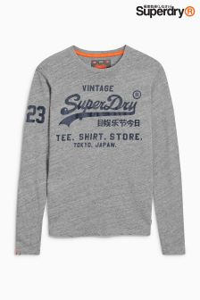 Superdry Script Logo Long Sleeve Top