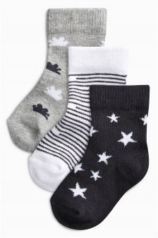 Mono Socks Three Pack (Newborn)