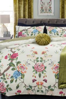 Mirror Floral Cotton Bed Set
