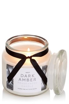 Dark Amber Fragranced Glass Jar Candle