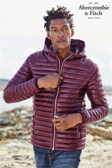 Abercrombie & Fitch Burgundy Padded Jacket