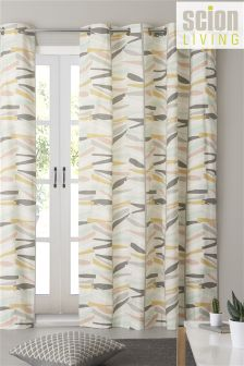 Scion Cotton Tetra Eyelet Curtains