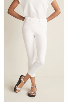 Jersey Denim Cropped Leggings