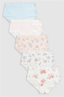 Floral Hipsters Five Pack (3-16yrs)