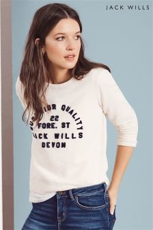 Jack Wills Ecru Pulborought Classic Crew