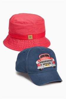 Havana Cap And Fishermans Hat Two Pack (Younger Boys)