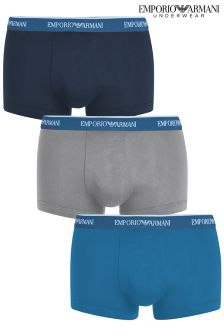 Armani Navy/Grey/Blue Boxers Three Pack