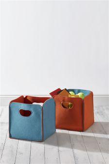 Set Of 2 Felt Storage Cubes