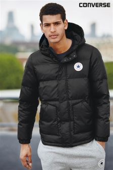 Converse Black Hooded Puffer Jacket