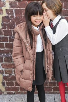 Long Padded Duvet Coat (3-16yrs)