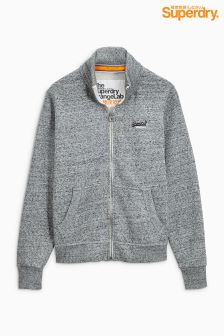 Superdry Grey Marl Zip Through Sweat