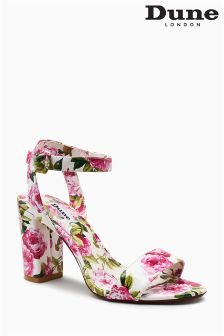 Dune White Floral Marygold Two Part Sandal